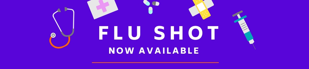 Flu Now Available Banner